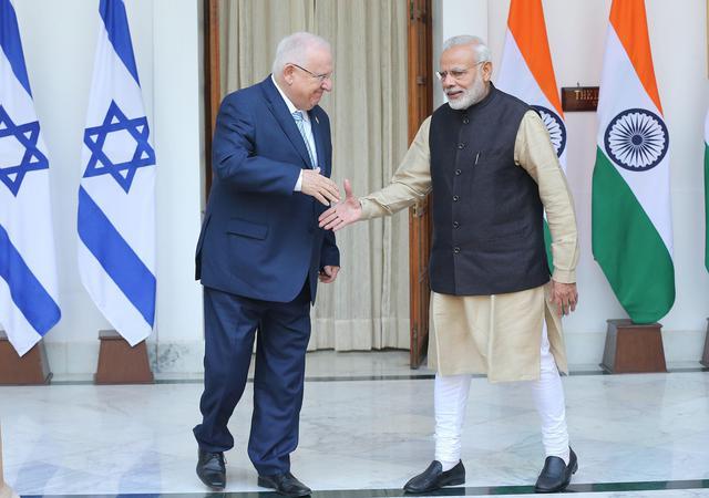 Israeli President Reuven Rivlin in New Delhi