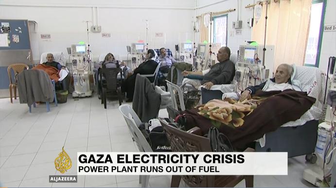 crisi energetica a Gaza