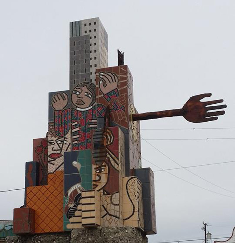 Wall monument in Tijuana