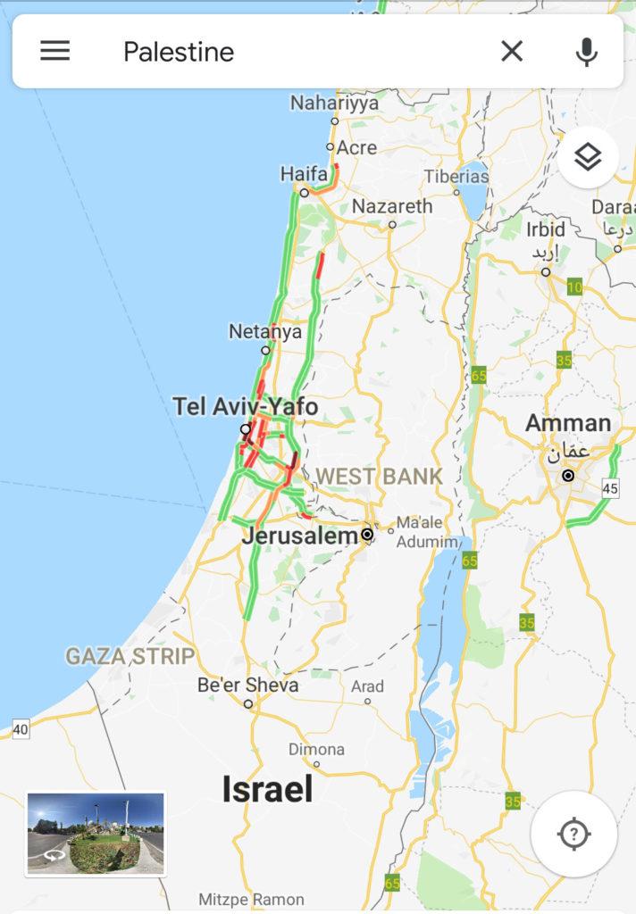 Cartina Fisica Palestina.Voci Dalla Strada Google Maps Le Citta Palestinesi Sono Villaggi Fantasma Tra Gli Insediamenti